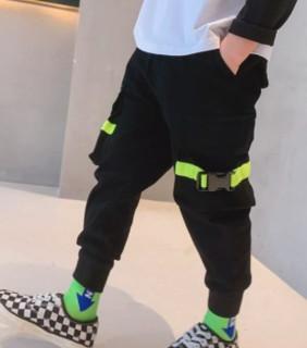 左西 男童梭织休闲长裤