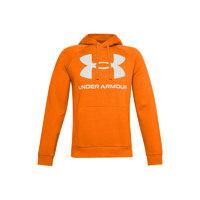 UNDER ARMOUR 安德玛 Rival Big Logo 中性运动卫衣 1357093-850 橙色 XL