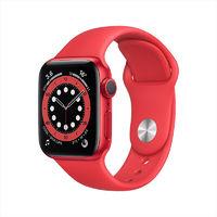 聚划算百亿补贴:Apple 苹果 Watch Series 6 智能手表 GPS款 44mm 红色运动表带