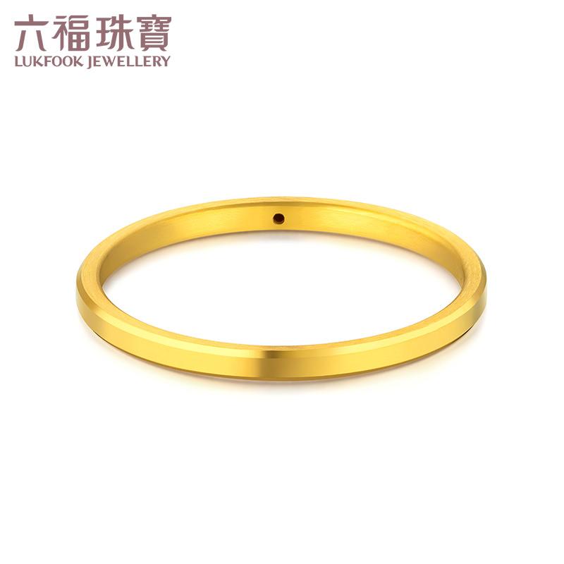 六福珠宝素圈戒指黄金男细款足金戒指硬金闭口戒定价F73A1TBR0001