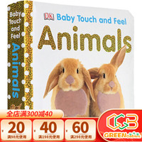 英文原版 Baby Touch and Feel  Animals 幼儿启蒙早教触摸纸板书 动物认知