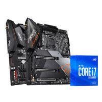 百亿补贴、数码配件节:Intel 英特尔 i7-10700KF盒装CPU+技嘉B460M 小雕ELITE 主板 板U套装