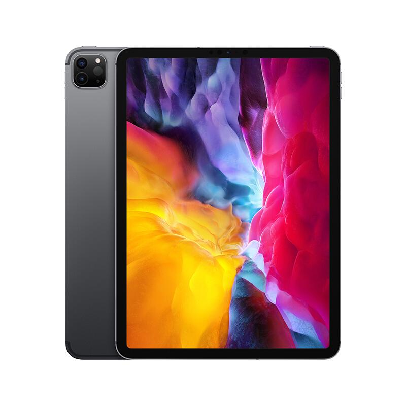 Apple 苹果 iPad Pro 4代 2020款 国行 11英寸 平板电脑(视网膜屏幕、A12Z、6GB、256GB、Cellular版、深空灰色、MXEM2CH/A)