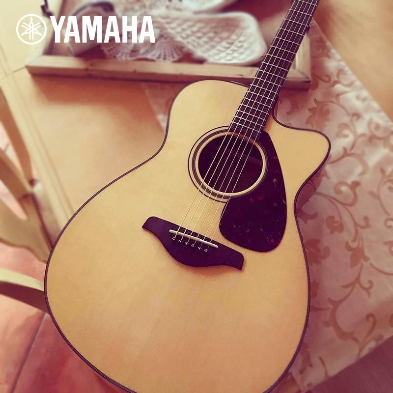 雅马哈 (YAMAHA) FX / FG800单板民谣木吉他40/41英寸入门初学电箱吉他弹唱演奏学生专业 云杉木