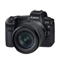 Canon 佳能 EOS R 全画幅 微单相机 黑色 RF 24-105mm F4.0 IS STM 变焦镜头 单头套机