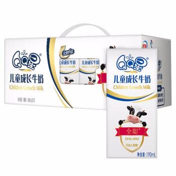 yili 伊利 QQ星儿童成长牛奶 全聪型190ml*15盒/箱(礼盒装)DHA+ARA 富含膳食纤维