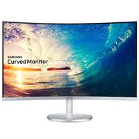 三星(SAMSUNG) 27英寸LED背光曲面电脑显示器 带音箱C27F591FDC(底座银色)