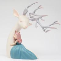 本藝術空間 白夜童話系列擺件 祥鹿·微風 祥鹿·依賴-小號