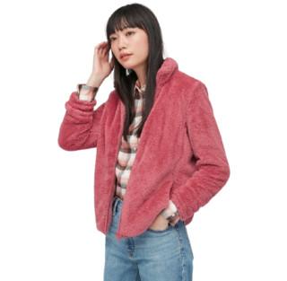 UNIQLO 优衣库 女士摇粒绒短外套 428330 桃红色 XS