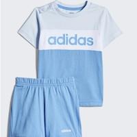 adidas 阿迪达斯 I CB SET FM0659 男童短袖运动套装