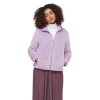 UNIQLO 优衣库 女士摇粒绒短外套 428330 浅蓝紫色 S