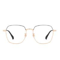 Lemon 柠檬 39003-C2 中性合金多边形眼镜架 黑金