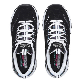 SKECHERS 斯凯奇 D'LITES 女子休闲运动鞋 11916/BKW 黑色/白色 37