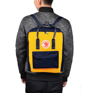 FJÄLLRÄVEN 北极狐 Kanken Classic系列 男女款休闲双肩背包 3510 560/141 海蓝/暖黄 16L