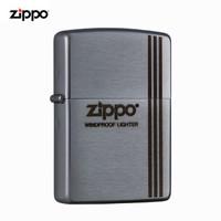 美國進口之寶(ZIPPO)防風煤油打火機不含油 復古線條 品牌直供原裝正版