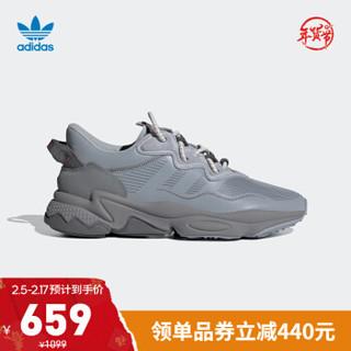 阿迪达斯官网 adidas 三叶草 OZWEEGO OZWG 男鞋经典运动鞋GZ2774 浅灰/深灰/灰白 42(260mm)