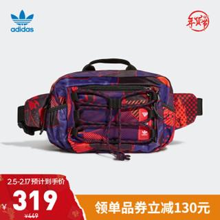 阿迪达斯官网 adidas 三叶草 WAISTBAG 新年款男女运动包GT6658 黑色/多色 NS