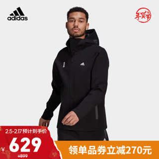 阿迪达斯官网 adidas WJ HTT WARM 男装训练运动夹克外套GU1749 黑色 A/M(175/96A)
