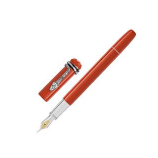 MONTBLANC万宝龙钢笔传承系列红色蛇笔墨水笔M尖 114725