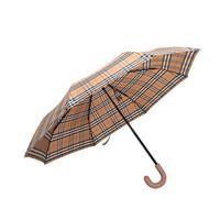 博柏利 BURBERRY 男女通用款聚酯纤维折叠伞雨伞古典黄色蜂蜜色Vintage格纹 40752881