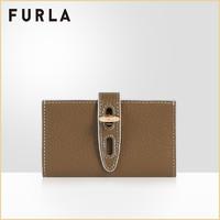 FURLA/芙拉NET 2021早春新品女式中号简洁实用卡套卡包(浅咖色)