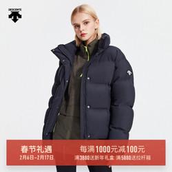 DESCENTE迪桑特 SKI STYLE 女子高领短款面包服羽绒服 D0492SDJ92 黑色-IB M(165/84A)