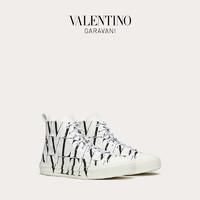VALENTINO GARAVANI/华伦天奴VLTN TIMES Giggies 高帮织物运动鞋(44.5、白色)