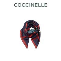 COCCINELLE/可奇奈尔 秋冬新品 SCARVES 桑蚕丝女式丝巾(墨蓝色)