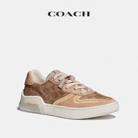 COACH/蔻驰女士经典休闲街头时尚CITYSOLE板鞋(女款、8、棕黄色/榉木色)