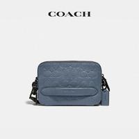 COACH/蔻驰男士经典皮革CHARTER系列斜挎包腰包(蓝石英色)