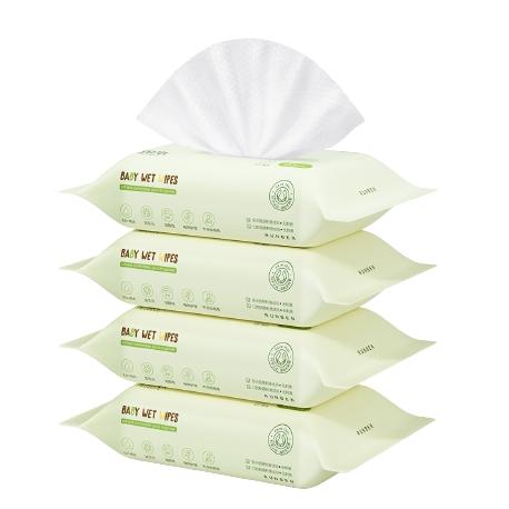 润本 婴儿手口湿巾 20抽*4包
