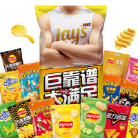 京东PLUS会员:Lay's 乐事 薯片 巨无霸吃货零食大礼包 1kg