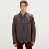 唯品尖货:super.natural SNURM029410028  男士皮衣外套