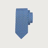 Salvatore Ferragamo/菲拉格慕 男士雙面印花桑蠶絲領帶 740309(藍色)