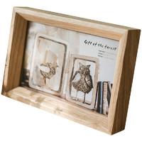 掬涵 白蠟實木高檔相框畫框 桌面擺件照片墻 自然原味日式北歐