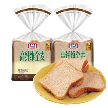 MANKATTAN 曼可顿 特选系列高纤维全麦切片面包 400g*2 袋装
