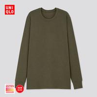 限尺码:UNIQLO 优衣库 HEATTECH ULTRA WARM 429019 男装圆领T恤