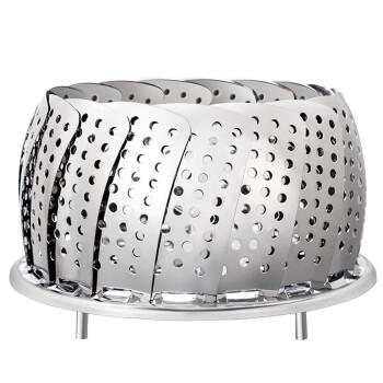 欧橡 OAK 可调节蒸笼 不锈钢蒸屉蒸架可伸缩折叠拆卸蒸格 加厚多功能蒸盘蒸笼盘水果篮OX-C123 *3件
