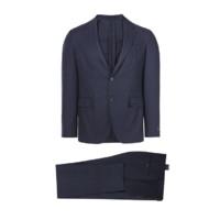 Ermenegildo Zegna 杰尼亚 男士羊毛西服套装 822601-20PWKL-52 蓝色 L