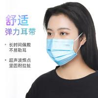 袋鼠医生医用外科口罩一次性三层医疗医生专用黑色灭菌单独包装