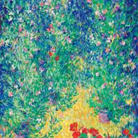 橙舍玄關裝飾畫歐式客廳油畫豎版走廊過道掛畫 巴特勒伯爵花園