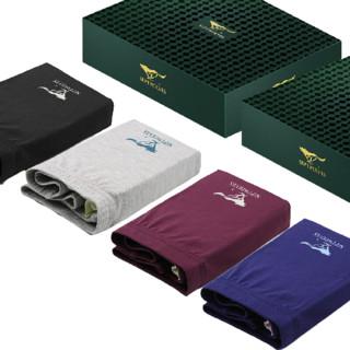 京东PLUS会员 : SEPTWOLVES 七匹狼  冰丝系列 男士平角内裤套装 经典款 4条装 XL
