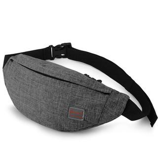 京东PLUS会员 : TINYAT 天逸  男士尼龙单肩斜挎包 T201灰色 小包