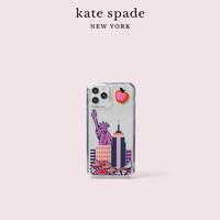 kate spade ks 纽约图案液体iPhone11Pro手机壳手机套(透明色/拼色)