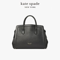 kate spade ks knott 女士大号梯形轮廓时尚通勤手提斜挎单肩包(黑色)