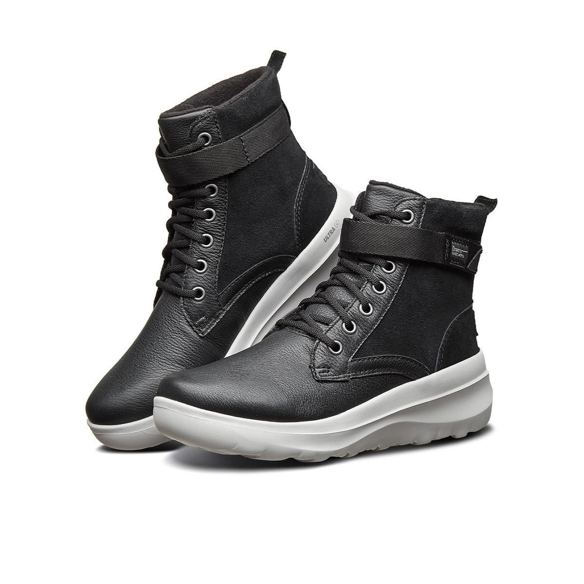 SKECHERS 斯凯奇 ON THE GO系列 女子户外休闲鞋 15546-BKGY 黑灰 36