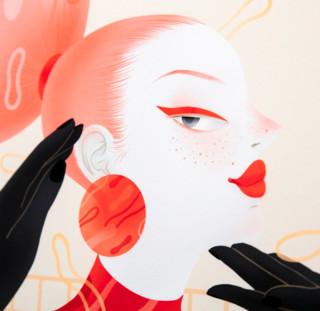 dprints迪品 现代简约装饰画创意家装沙发背景墙《追崇》