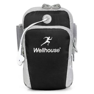 Wellhouse 中性户外骑行腕包 WH-00627 黑色 L 耳机孔款