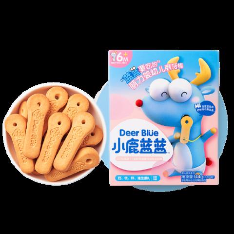 小鹿蓝蓝 婴儿无添加盐磨牙饼干144g