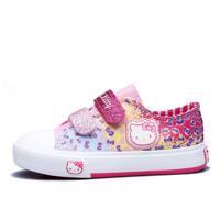 Hello Kitty 凯蒂猫 儿童时尚涂鸦帆布鞋